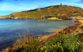 Gnejna Bay, Malta, landscape