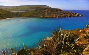 Ghajn Tuffieha Bay, Malta, paesaggio