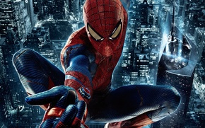 New Spider-Man, The Amazing Spider-Man, city, night, spider, NY