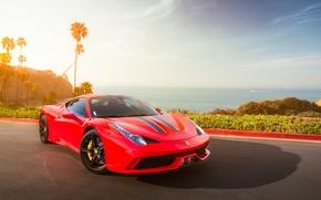 red, Wolken, Ferrari, Himmel, Ferrari, Ozean