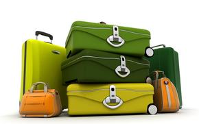 чемодан, цвет, багаж, сумка, путешествие