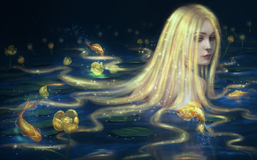 фея, рыбы, фантастика