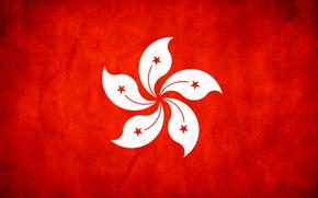 гонконг, флаг, текстуры
