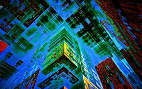 abstracción, 3d, arte