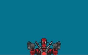 Deadpool, background, view, weapon, suit
