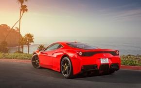 Ferrari, asphalt, zadok, shadow, red, Ferrari