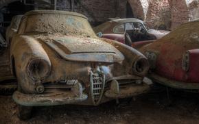 dust, old, dump, Car