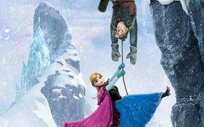 gelato, regno, pupazzo di neve, Kristoff, Cold Heart, principessa, cervo, Sven, Anna, Erendel, Olaf, animazione, nevicata, Fiocchi di neve, castello di ghiaccio, Walt Disney