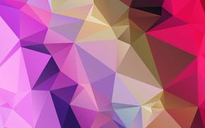 треугольник, свет, узор, объем, линии, грань, цвет