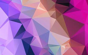 свет, цвет, линии, узор, объем, треугольник, грань