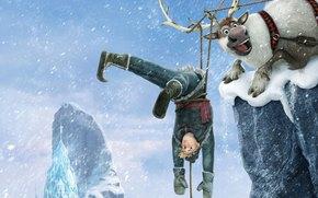 Hans, castello di ghiaccio, animazione, Fiocchi di neve, Cold Heart, gelato, Erendel, Kristoff, regno, Sven, nevicata, Walt Disney, cervo