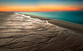 sabbia, HORIZON, spiaggia, cielo