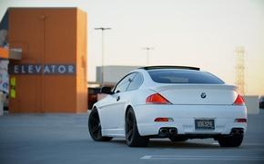 BMW, parking, lift, BMW, zadok, white, roof
