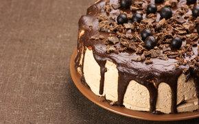 sopro, sobremesa, Bolas, bolo, creme, comida, chocolate, doce