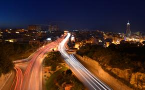 St. Julian, Malta, city, night