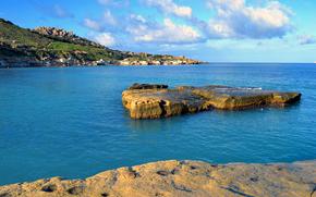 A small island, Gnejna Bay, Malta