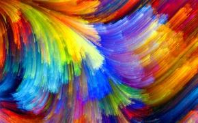 узор, цвет, объем, краски, пятно, рельеф, радуга
