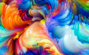 краски, объем, радуга, рельеф, пятно, узор, цвет
