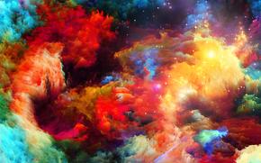 объем, пятно, рельеф, узор, краски, радуга, цвет