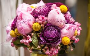 цветы, розовый, розы, день свадьбы, букеты