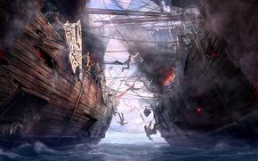 Meer, Einschiffung, Schlacht, Schiffe, Dragons of Eternity, Kunst, Seeschlacht