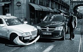 taxi, got dibs, mat, city, street, gesture, accident
