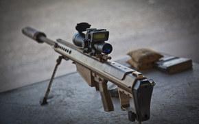 weapon, Sniper, rifle, Heavy-, semi-automatic