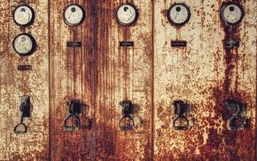 Metal, manometers, rust, Arrows, iron
