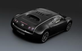 Bugatti, авто, черный, суперспорт, вейрон, машина, бугатти