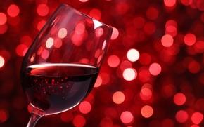 bokeh, vino, rojo, vaso de vino, luces, vidrio