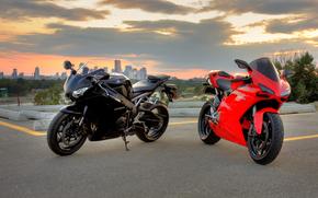 сибиар, хонда, мотоциклы, чёрный, дукати, красный, Мотоциклы