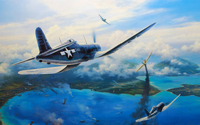 drawing, Single carrier-based fighter of World War II, Art