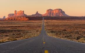 USA, desert, Rocks, Utah, road, Monument Valley