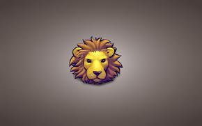 minimalism, head, lion, animal
