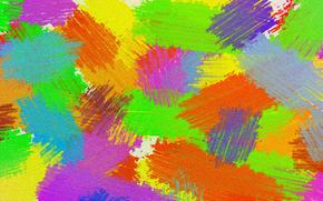 штрих, цвет, мазок, полотно, краска, свет