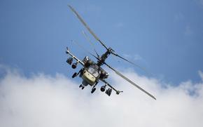 ударный, российский, «Аллигатор», полёт, вертолёт, небо, облака, лопасти
