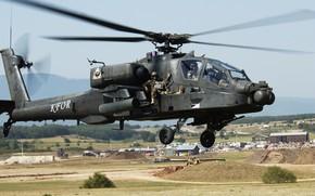 взлёт, вертолёт, пилоты, основной, боевой, США