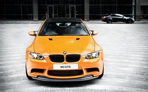 carbon fiber roof, BMW, daylight, Front, orange, BMW
