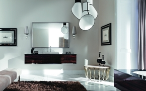 коричневый, белый, ар-деко, дизайн, интерьер