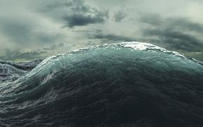 agua, ondas, mar, océano