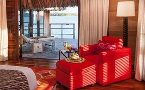 Stil, Bungalow, Design, Hotel, Innenraum