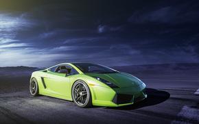 ламборджини, галлардо, Lamborghini, зелёная