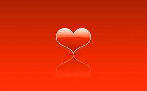 minimalism, Love, St., heart, Valentine, heart