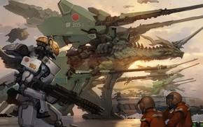 robot, Art, Guerra, Draghi, arma, Pelliccia, macchinario