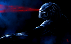 mask, predator, Lasers
