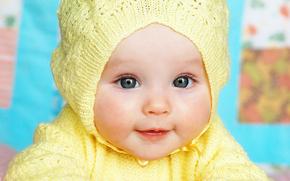 dzieci, szczęśliwy, Mała dziewczynka, kochanie, ładny, niebieskie oczy, piękny, dziewczyna, dziewczyna, dzieciństwo, ciekawy