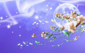 ムーン, ブランチ, 星, 桜