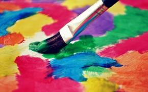 фон, кисть, обои, кисточка, широкоэкранные, полноэкранные, настроения, краски, цветное, широкоформатные, цвет