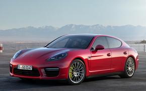 красный, Porsche, порше, спорткар