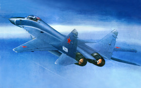 plane, Fourth Generation, fighter, Russian, aviation, deck, Art